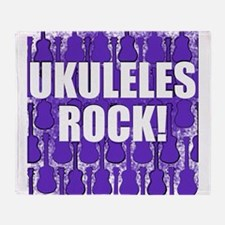 Popular Ukulele Throw Blanket