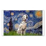 Starry /Dalmatian Sticker (Rectangle)