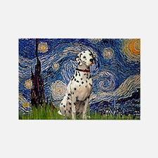Starry /Dalmatian Rectangle Magnet