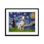 Starry /Dalmatian Framed Panel Print