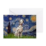 Starry /Dalmatian Greeting Cards (Pk of 10)