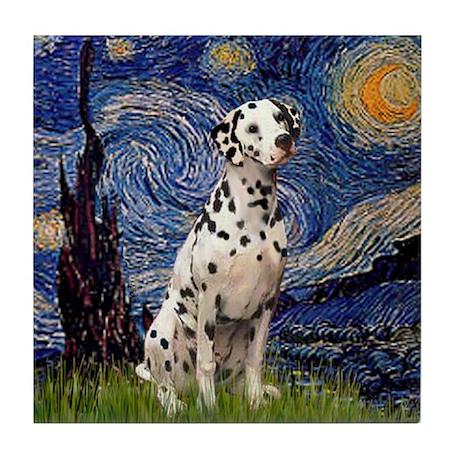 Starry /Dalmatian Tile Coaster