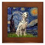 Starry /Dalmatian Framed Tile