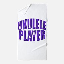 Ukulele Player Beach Towel
