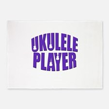 Ukulele Player 5'x7'Area Rug