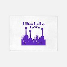 Cool Ukulele 5'x7'Area Rug