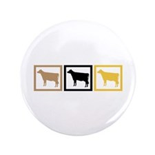 """Cow Squares 3.5"""" Button (100 pack)"""