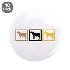 "Cow Squares 3.5"" Button (10 pack)"