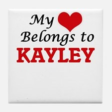 My heart belongs to Kayley Tile Coaster