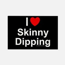 Skinny Dipping Rectangle Magnet