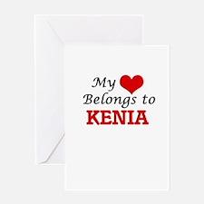 My heart belongs to Kenia Greeting Cards