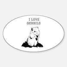 I Love Gerbils Decal