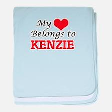 My heart belongs to Kenzie baby blanket