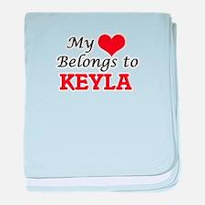 My heart belongs to Keyla baby blanket