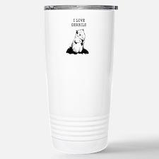 I Love Gerbils Stainless Steel Travel Mug