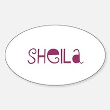 Sheila Oval Decal