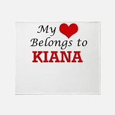 My heart belongs to Kiana Throw Blanket