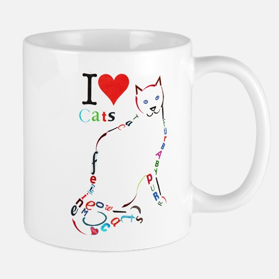 Cat typography Mugs