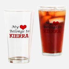 My heart belongs to Kierra Drinking Glass
