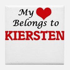 My heart belongs to Kiersten Tile Coaster