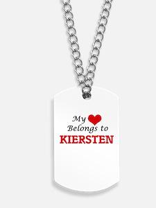 My heart belongs to Kiersten Dog Tags