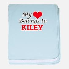 My heart belongs to Kiley baby blanket