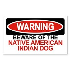 NATIVE AMERICAN INDIAN DOG Rectangle Decal