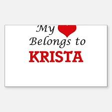 My heart belongs to Krista Decal