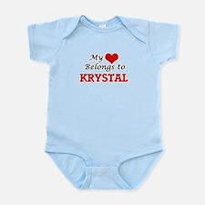 My heart belongs to Krystal Body Suit