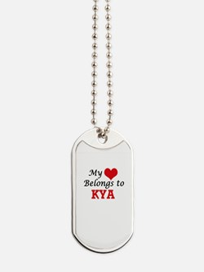 My heart belongs to Kya Dog Tags