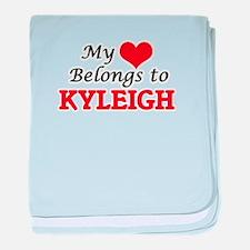 My heart belongs to Kyleigh baby blanket