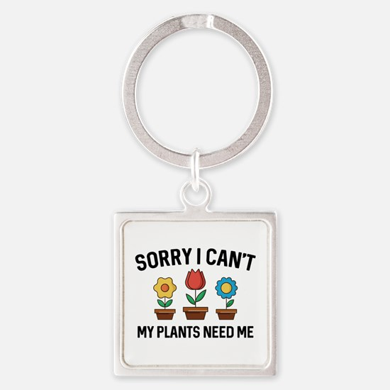 Sorry I Can't Square Keychain