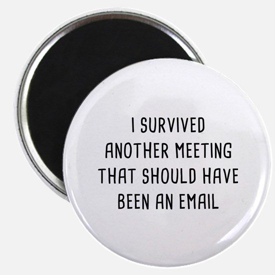I Survived Another Meeting Magnet