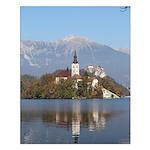 Lake Bled Island, Slovenia Small Poster