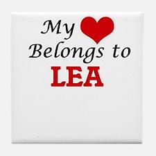 My heart belongs to Lea Tile Coaster