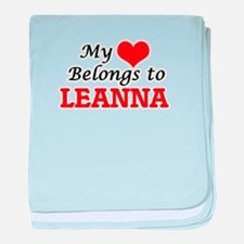 My heart belongs to Leanna baby blanket