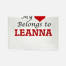 My heart belongs to Leanna Magnets