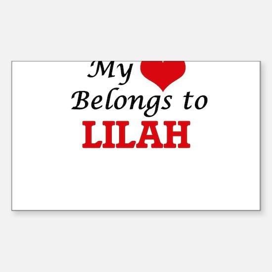 My heart belongs to Lilah Decal