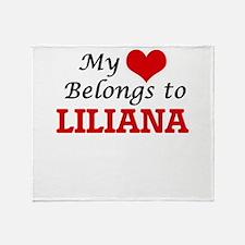 My heart belongs to Liliana Throw Blanket