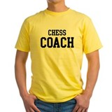 Chess coaches Mens Yellow T-shirts