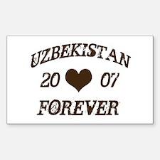Uzbekistan forever Rectangle Decal