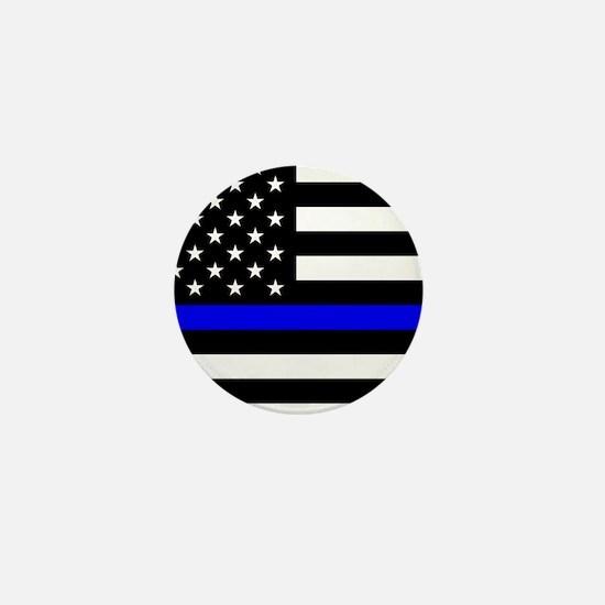 Police: Black Flag & The Thin Blue Line Mini Butto