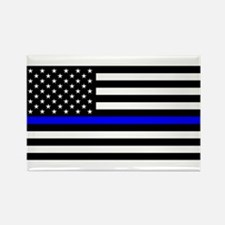 Police: Black Flag & The Thin Blue Line Magnets