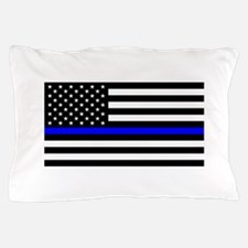Police: Black Flag & The Thin Blue Line Pillow Cas