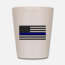 Police: Black Flag & The Thin Blue Line Shot Glass