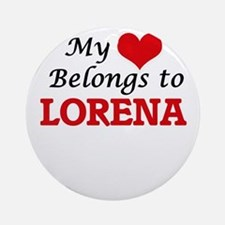My heart belongs to Lorena Round Ornament