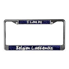 Funky Love Belgian Laekenois License Plate Frame