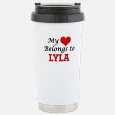 My heart belongs to Lyl Stainless Steel Travel Mug