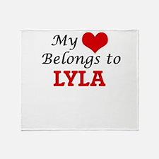 My heart belongs to Lyla Throw Blanket