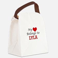 My heart belongs to Lyla Canvas Lunch Bag